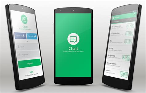 app template android chatt android app template