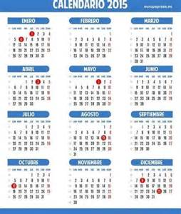 calendario laboral completo de 2015 fiestas nacionales
