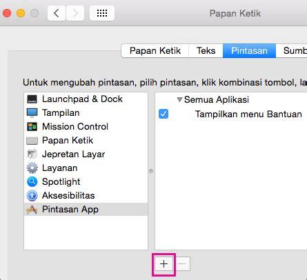 Microsoft Untuk Mac membuat pintasan keyboard kustom untuk office 2016 untuk