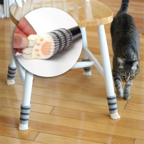 Cat Paw Floor Protecting Chair Socks from Muddy Paws (box