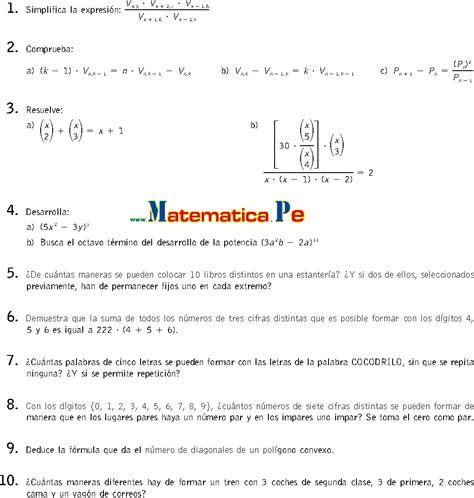 matemticas 2 bachillerato combinatoria ejercicios resueltos matematicas 2 bachillerato pdf