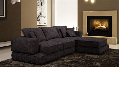 Bonded Leather Sectional Sofa Dreamfurniture 5059 Modern Bonded Leather Sectional Sofa