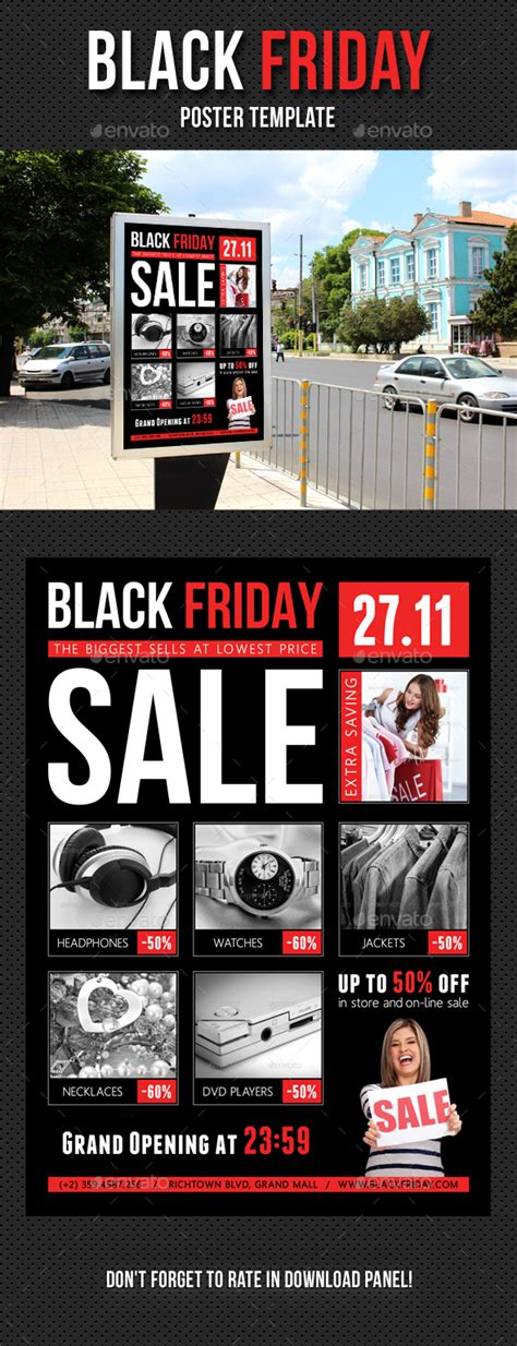 Black Friday Poster Template V01 By Rapidgraf Graphicriver Mailchimp Black Friday Template