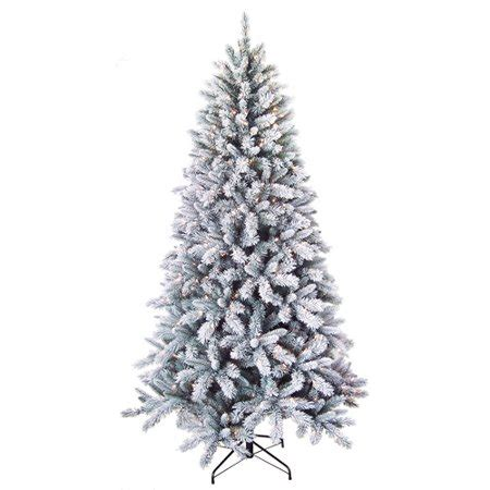 walmart christmas trees pre lit time 7 5 pre lit winter pine artificial tree clear lights walmart