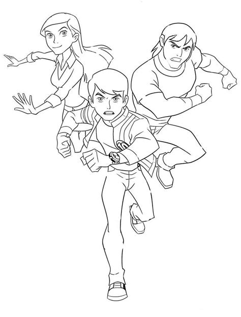 Animations A 2 Z Coloring Pages Of Ben 10 Ben Ten Coloring Pages