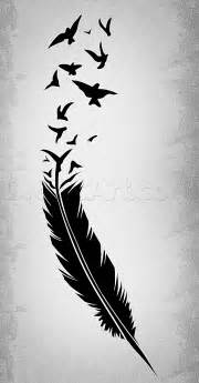 How to draw a black feather black feather tattoo step by step