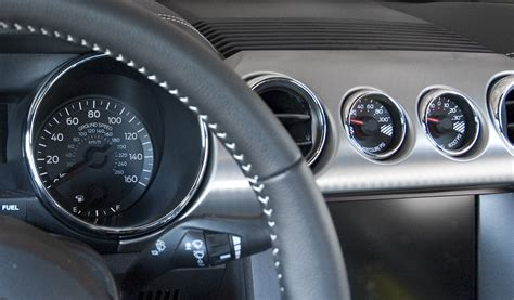mustang gt supercharger gauge pod cluster oil