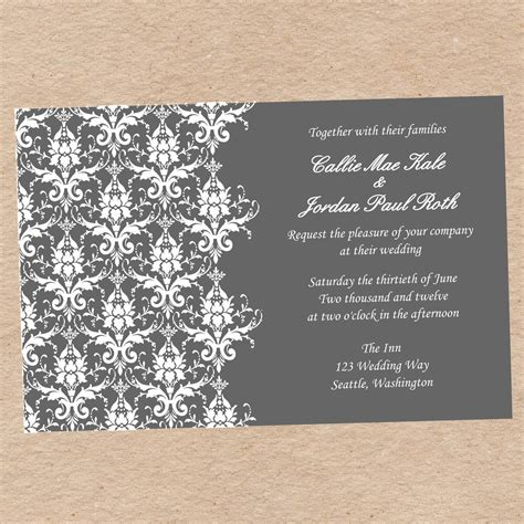wedding invitations templates printable wedding invitation wedding invitations templates