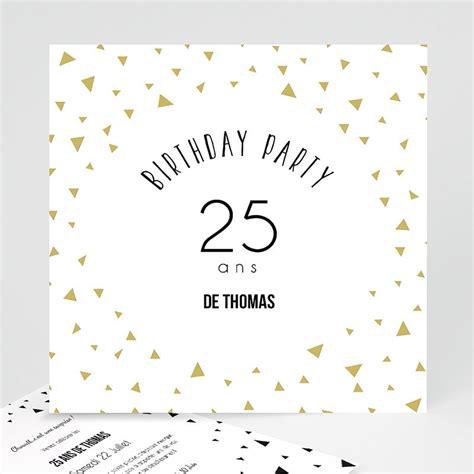 invitation anniversaire adulte triangles chic