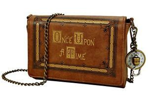 abc once upon a time story book cover crossbody shoulder bag purse
