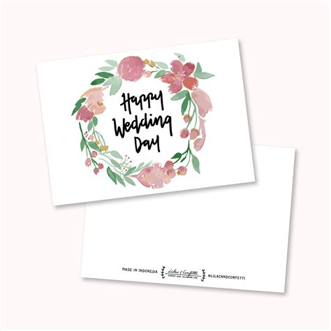 Wedding Ucapan by Jual 1 Buah Greeting Card Kartu Ucapan Happy Wedding Day