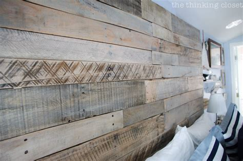 Believe Home Decor by How To Build A Wood Pallet Headboard The Thinking Closet