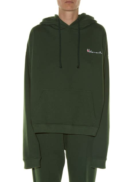 Polizei Hoodie lyst vetements hooded polizei print sweatshirt in green