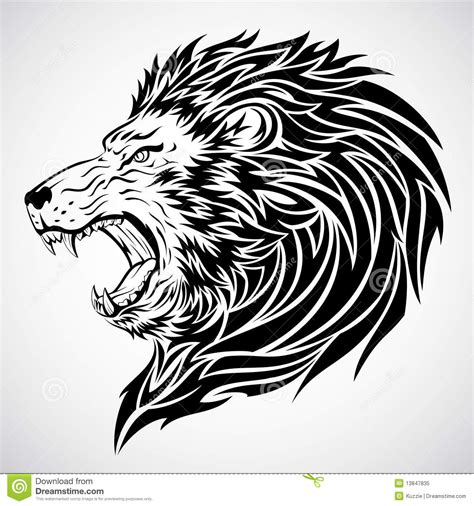 lion tattoo photo download lion roar tattoo royalty free stock photo image 13847835