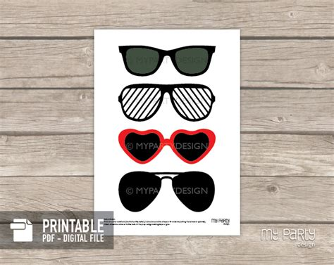 printable photo booth props on a stick photo booth props on a stick printable sunglasses