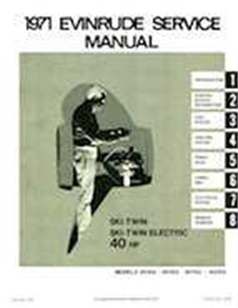 1971 Evinrude 40hp Outboards Service Manual 13 95