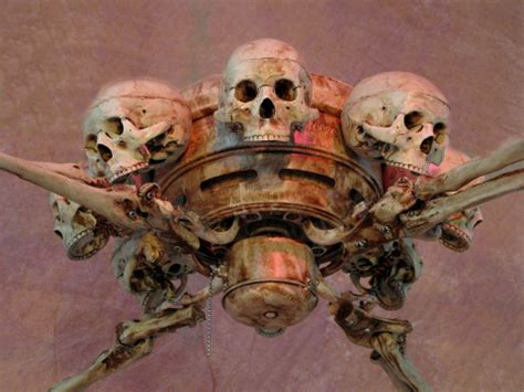 Skull Ceiling Fan by Skeleton Ceiling Fan Prop Human Skulls New Ebay