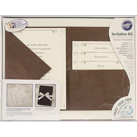 printable invitation walmart print your own invitations kit vintage ivy pocket style