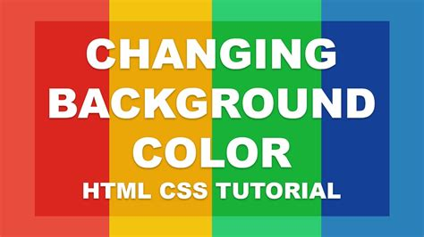 change background color css changing background color html css tutorial