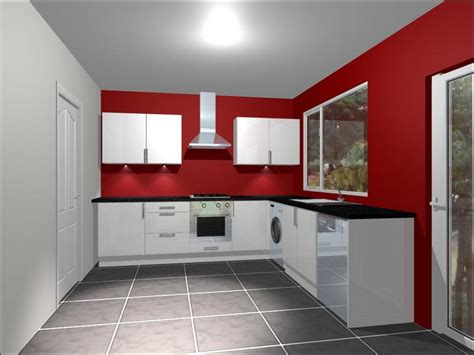 Red Kitchen With White Cabinets | cabinets shelving how to choose red and white kitchen