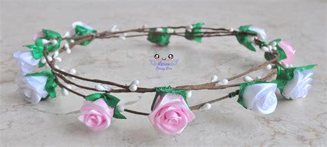 Flower Crown Mahkota Bunga Kuncup jual flower crown mahkota bunga bando bunga mawar mini