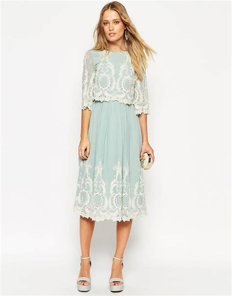 My Style Midi Dress asos layer midi dress with contrast embroidery and