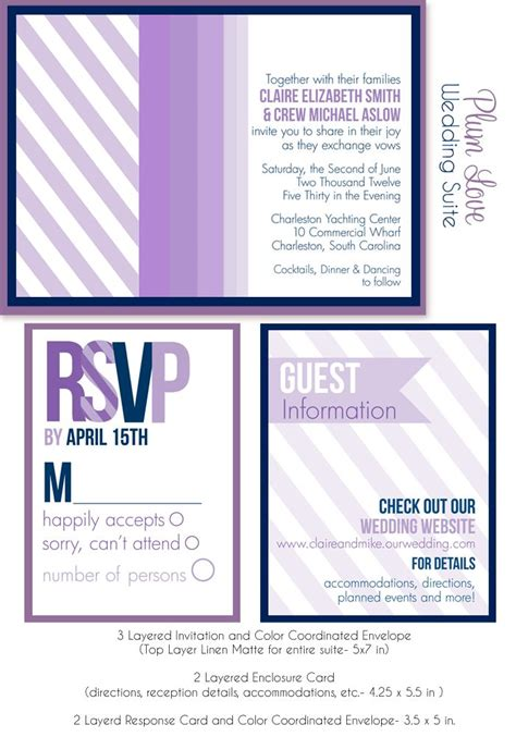 purple wedding invitations boxes purple wedding invites shades of purple wedding
