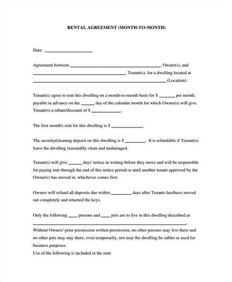 generic rental agreement sle sublease agreement