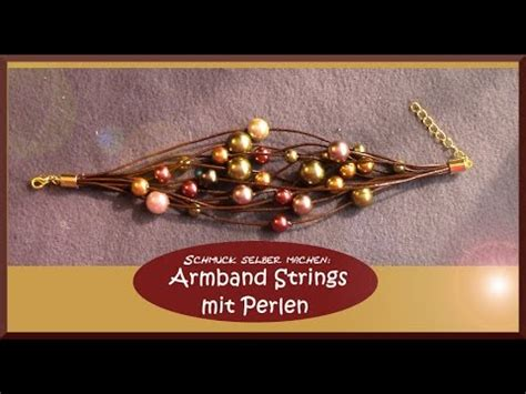 perlenschmuck selber machen vorlagen selber machen armband strings mit perlen