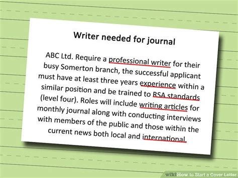 how to write a cover letter wikihow 2186