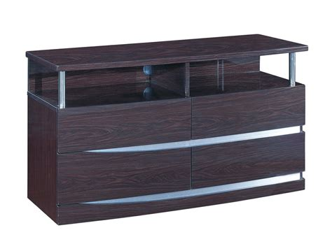contemporary bedroom dressers and nightstands aurora modern bedroom set in brown wenge bed 2