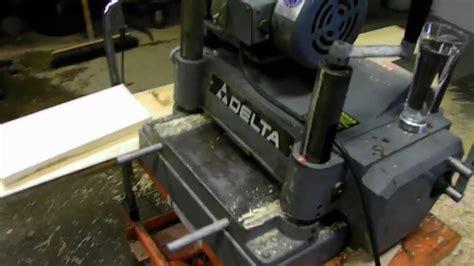 delta wood planer youtube