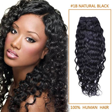 black hairstyles with remy hair 30 inch 1b natural black curly indian remy hair wefts
