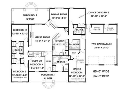 5 bedroom house plans simple 5 bedroom house plans hpc 2550 5 is a great