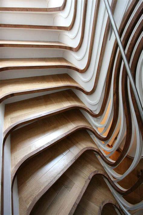 wooden design trippy stairs design milk