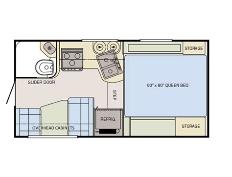 slide in cer floor plans adventurer truck cer model 89rb