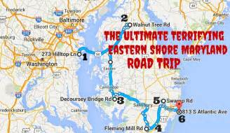 maryland map eastern shore terrifying eastern shore maryland road trip