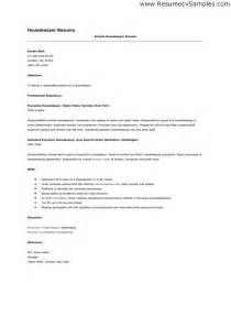 Hospital Housekeeper Cover Letter by Housekeeper Resume Sle Picture Objective Professional Experience