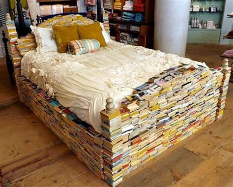 book bed just say no to the book bed no wait say maybe the