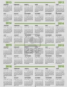 5 year calendar template five year calendar calendar template 2016