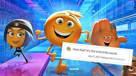 emoji rotten tomatoes the emoji movie has 0 on rotten tomatoes here are the
