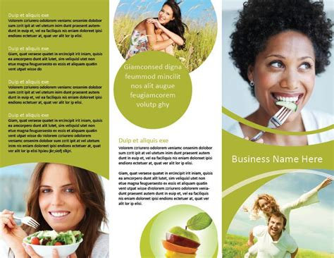 Trifold Nutrition And Health Brochure Template Hhe Pinterest Brochure Template Brochures Health Coach Brochure Templates