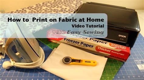 how to print on fabric at home easy sewing for beginners