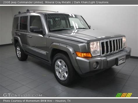 Gray Jeep Commander Mineral Gray Metallic 2008 Jeep Commander Limited