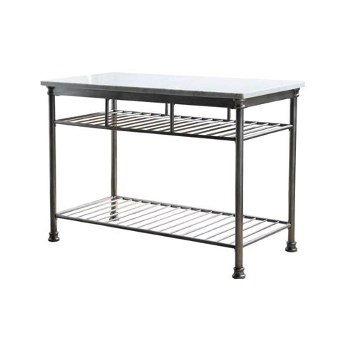 orleans kitchen island home styles orleans butcher marble kitchen island in gray