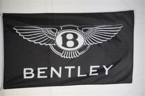 bentley logo black 90x150cm bentley black promotional logo grommets