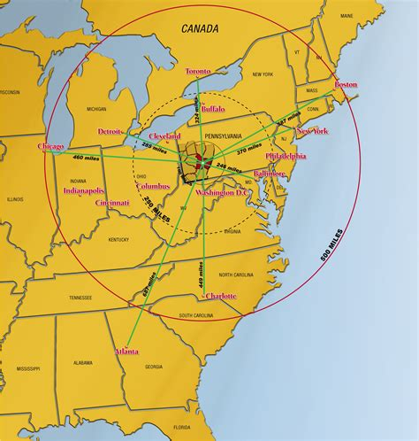 us map with cities and miles pennsylvania square miles emaps world