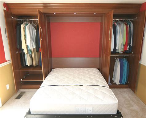 bed in closet ideas murphy bed