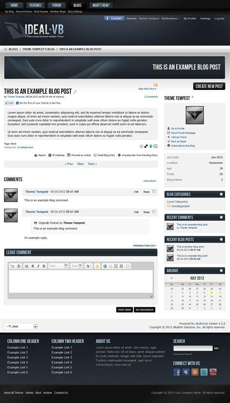 themeforest vbulletin ideal a vbulletin 4 suite theme by themetempest