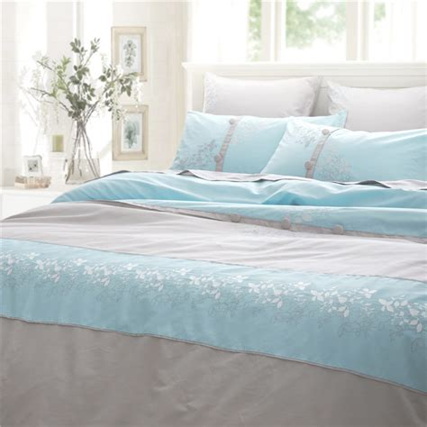 light blue bed set 2015 new arrival 4pcs 6pcs available bedding set king